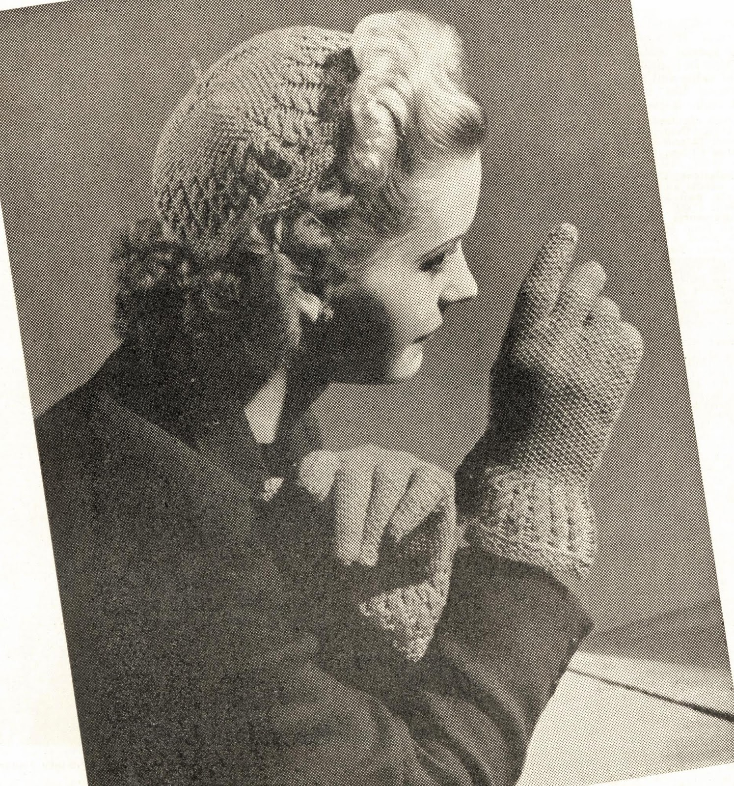 free vintage knitting patterns 1940s hat gloves