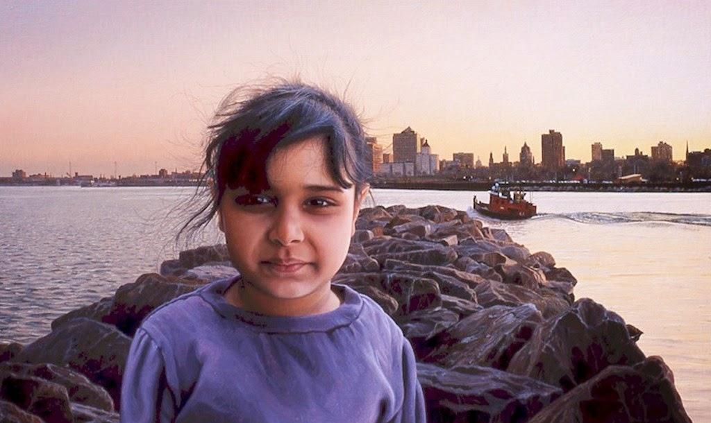 niños-en-paisajes-pintados-en-hiperrealismo