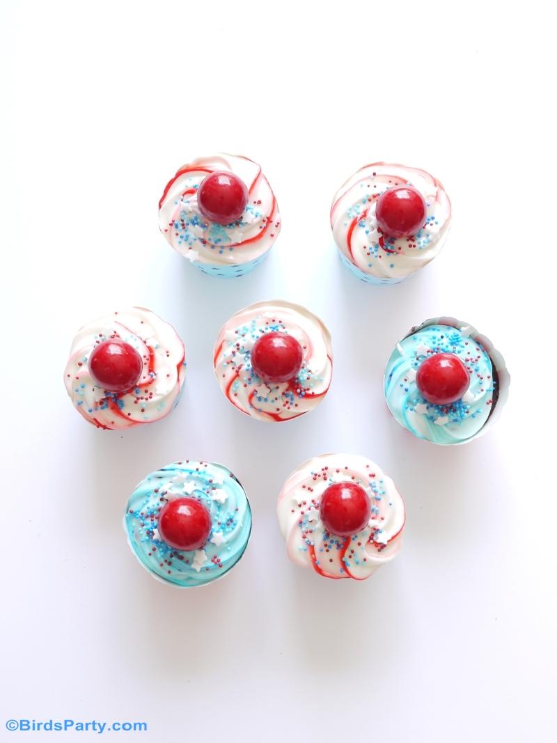14 Juillet : Recette Cupcakes Chocolat au Coca-Cola® en Bleu, Blanc et Rouge