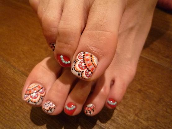 Dibujos para uñas de los pies - Imagui