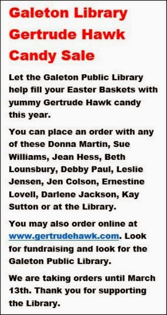 Galeton Library Candy Sale
