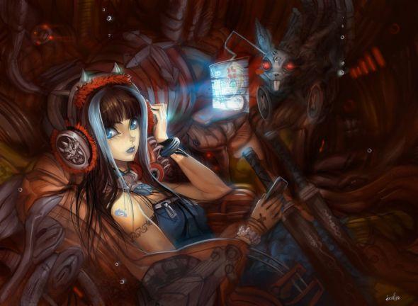 Hector Sevilla deviantart ilustrações mulheres sensuais fantasia estilo anime mangá Nação do tédio