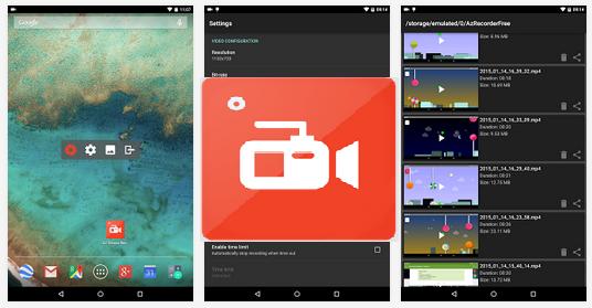 تطبيق مجاني لتسجيل شاشة الأندرويد فيديو بدون روت AZ Screen Recorder - No Root APK 1.0.8