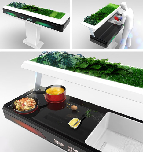 cuisine originale. Black Bedroom Furniture Sets. Home Design Ideas