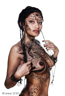 The body Paint is Really Cool