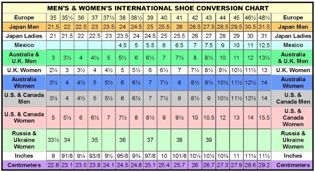 Mexico Shoe Size Conversion Chart Pictures to Pin on Pinterest ...
