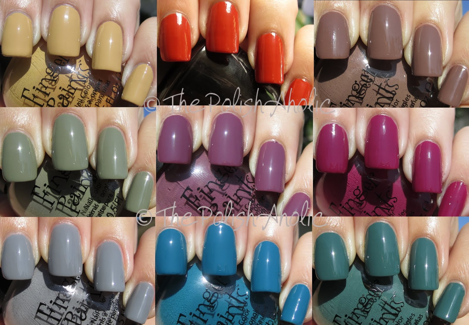 The PolishAholic: FingerPaints Fall Fashionista Fall 2011 Collection ...