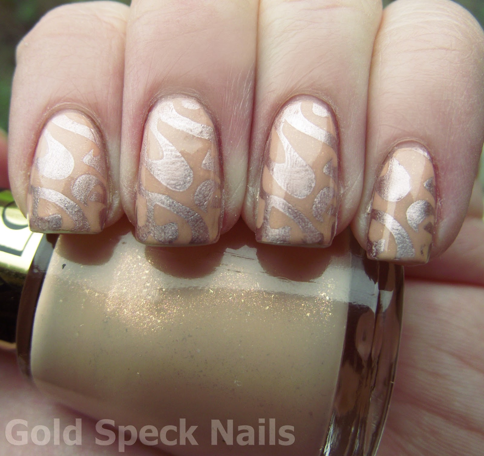 Gold Speck Nails: More Interview Nails