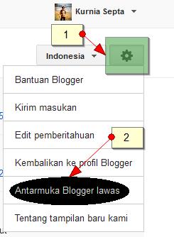 Cara Kembali ke Dasbor Lawas Blogger