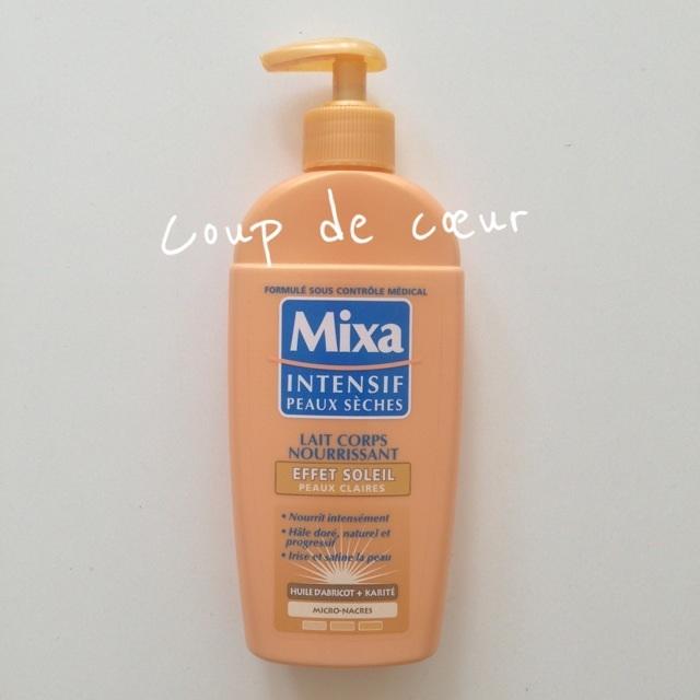 Un autobronzant l ger le lait corps effet soleil de mixa for Autobronzant et piscine
