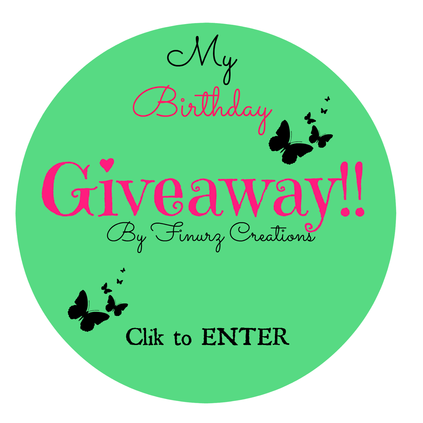 BIRTHDAY GIVEAWAY BY FINURZ CREATIONS