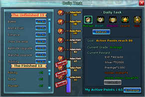 Pockie Pirates Daily Tasks