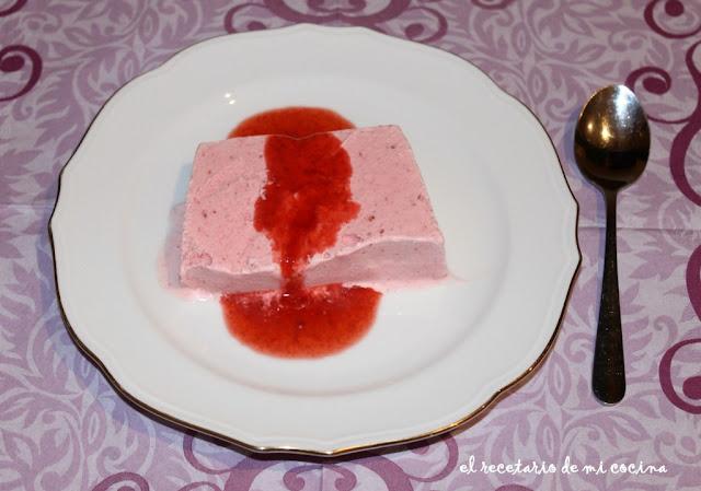 helado de fresas congeladas