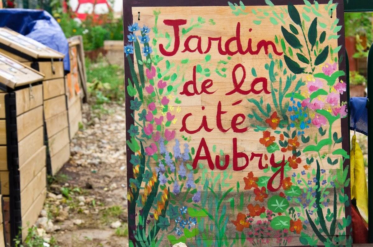 Paris - jardin de la cité Aubry