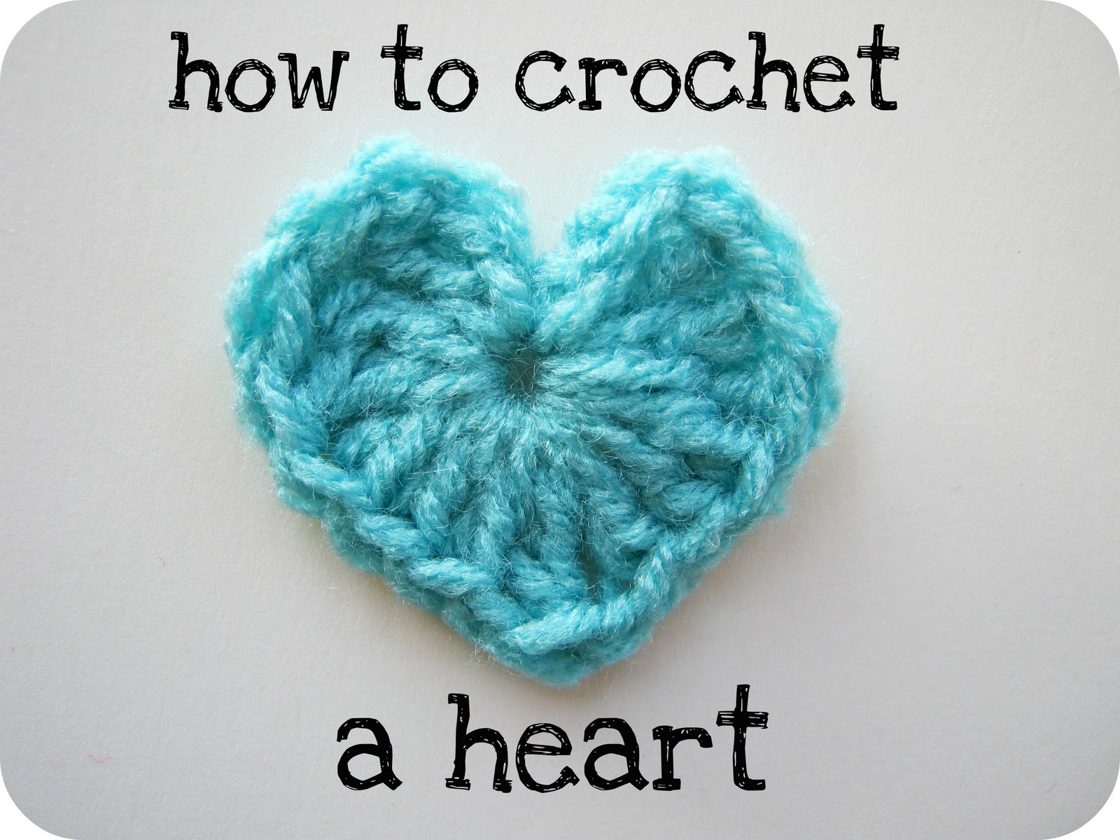 How To Crochet Basics : corazon de crochet tenEis otro modelo de corazon de crochet