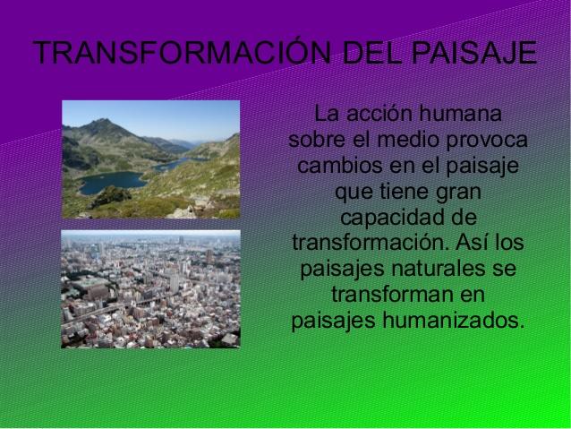 Tema 4 de CCSS: La transformación del paisaje natural