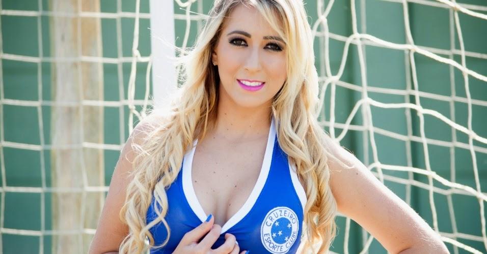 Kamila Faustino Candidata do Cruzeiro Esporte Clube no Belas da Torcida 2014