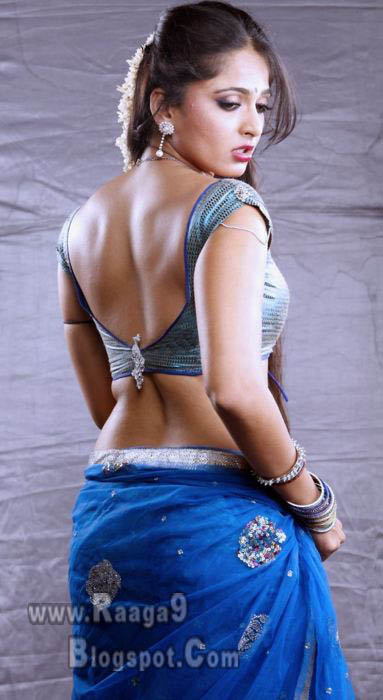anushka hot and sexy blue saree images mp3 songs free