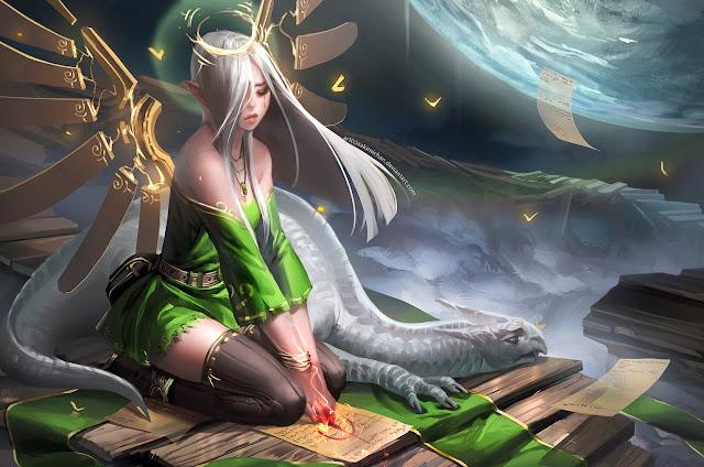 Resurrection, dragon,angel