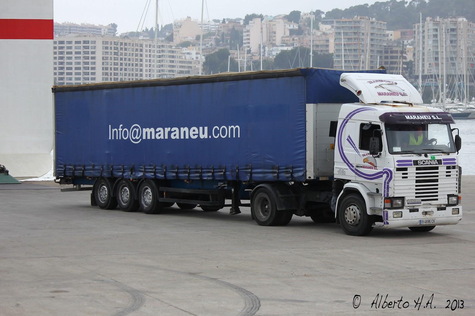 Camiones y autobuses en baleares scania 113m - Transporte islas baleares ...