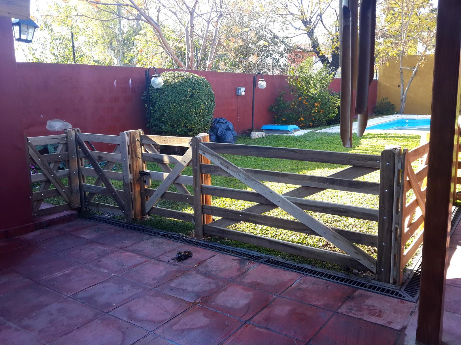 Articulos rurales baires forestal cercos jardin - Puertas de madera para jardin ...