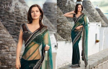 Bridal-Fish-Cut-Saree-Fashion