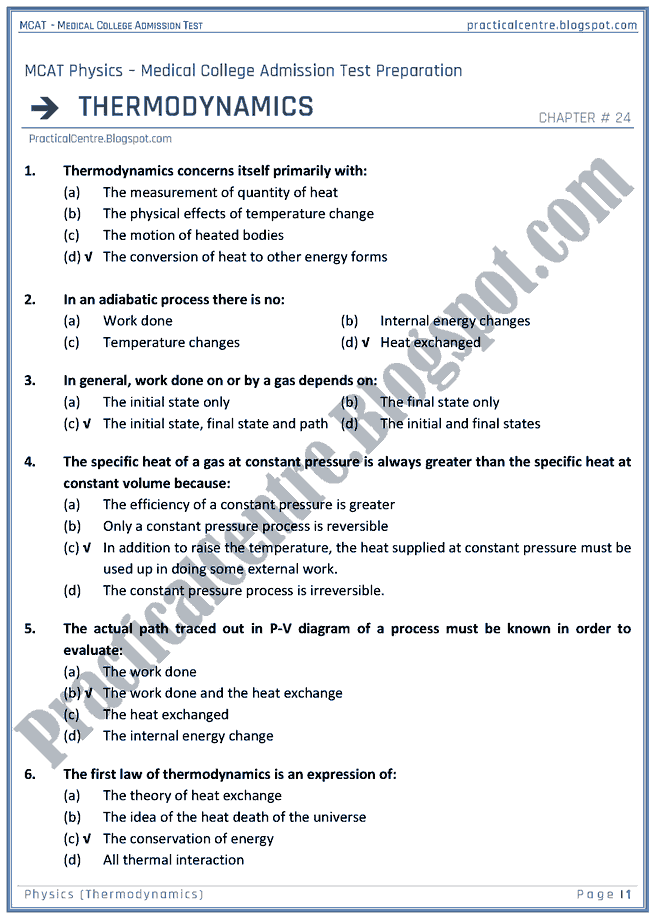 mcat-physics-thermodynamics-mcqs-for-medical-college-admission-test