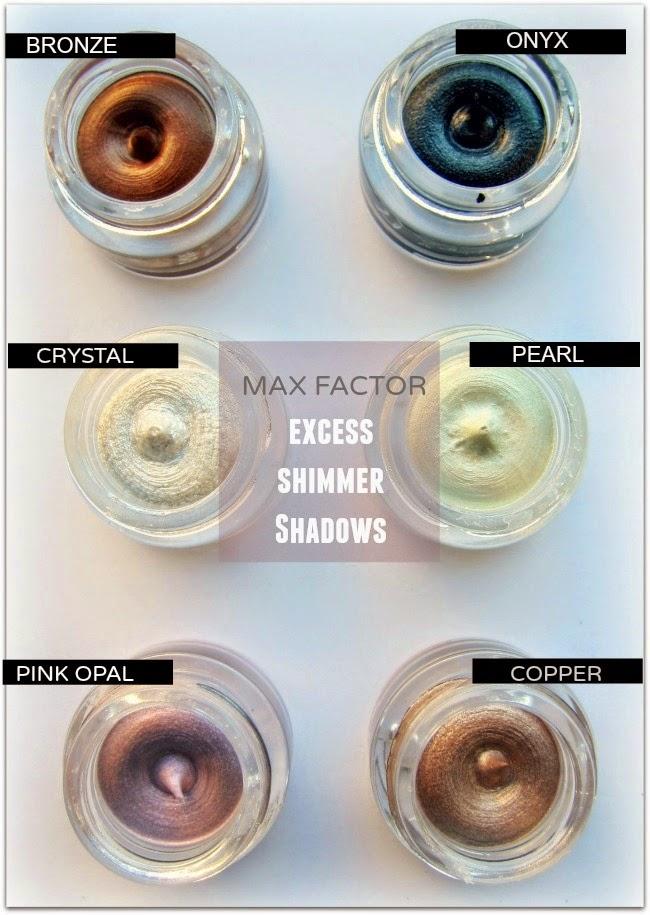 Max Factor Excess Shimmer Gel Eye Shadows