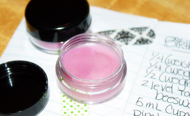 DIY Beauty Recipe - DIY Handmade Birthday Cake Lip Balm with Sheer Pink Shimmer - Great as birthday gifts, wedding favors and stocking stuffers!