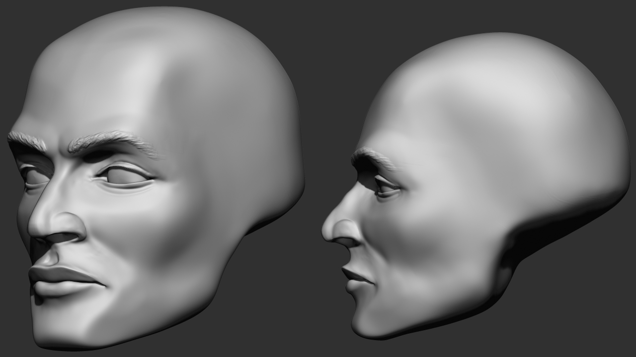 Graphyx Medley: Zbrush Head Sculpts and Form Study