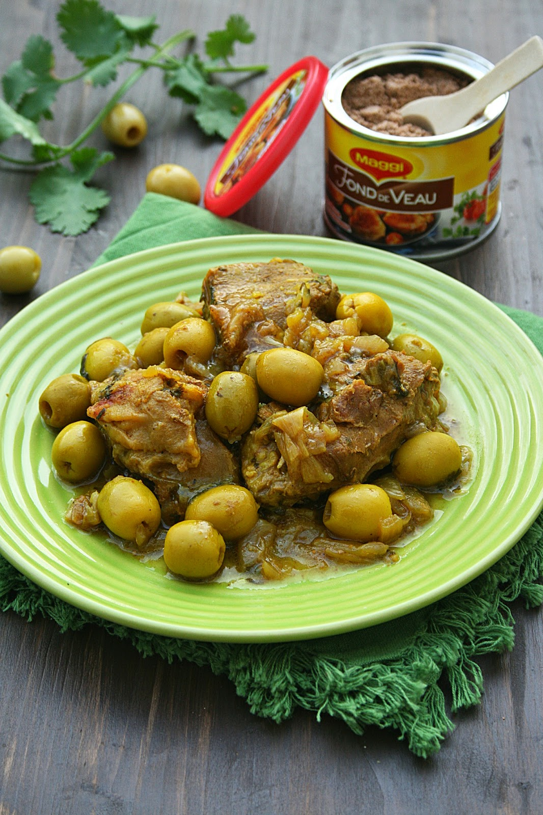 Tajine de veau aux olives et citron confit - Minouchka