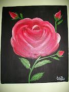 tela rosa flor acrílico sobre tela medida:28cm X 33cm. Preço:28,80 (fotograficas )