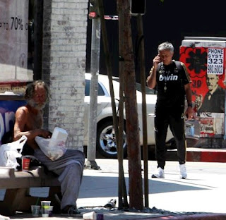 Curious image of Mourinho at Los Angeles
