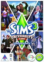 capa ou cover do jogo The Sims 3 University Life PC