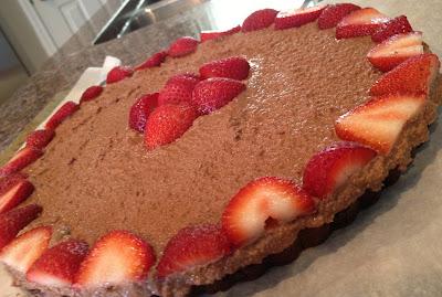 Making gluten free hazelnut nutella strawberry cake