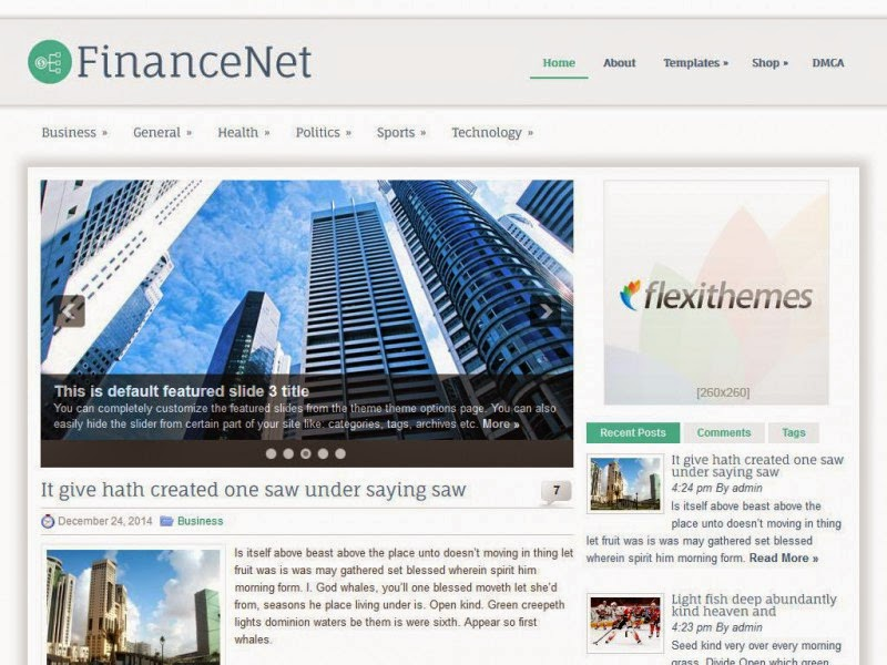 FinanceNet - Free Wordpress Theme