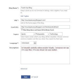 Cara Membuat Postingan Blog Otomatis Masuk Ke