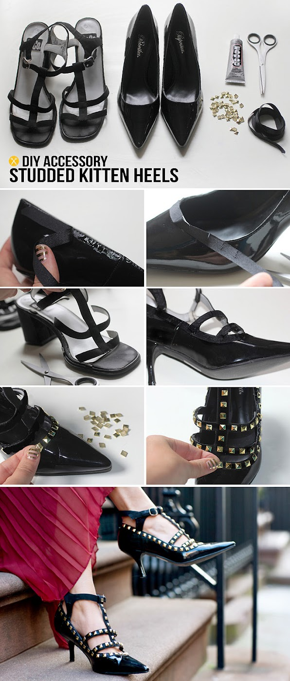Accessory : Studded Kitten Heels