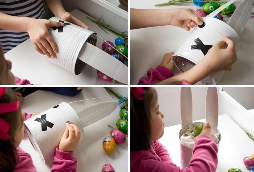Taller de creactividad: Diy conejo para lo huevos de Pascua en una lata5