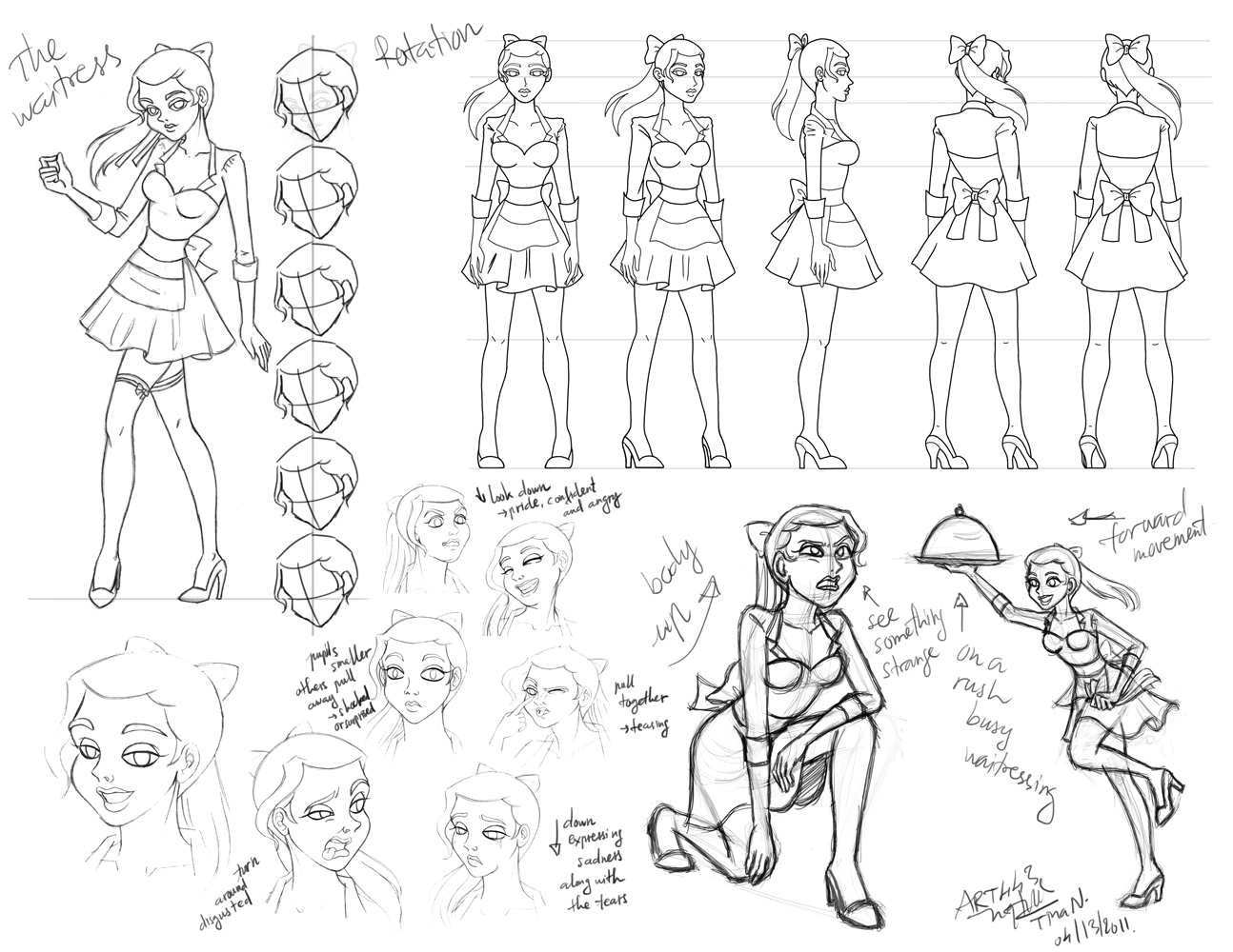 Theory Of Character Design : Tina n character designs model theory poses and concept