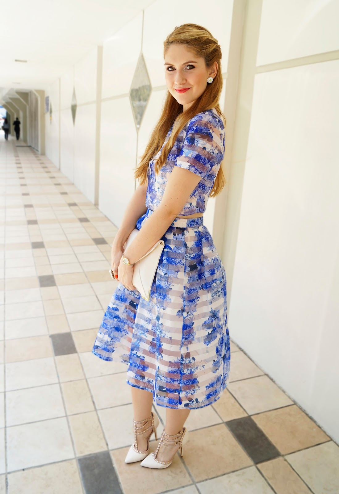 Spring Outfit in pretty Florals