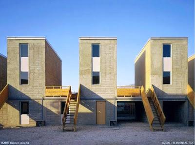 Casas del Proyecto Elemental en Chile