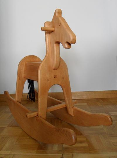 La cacharreria caballito balancin en madera de haya - Caballito de madera ikea ...