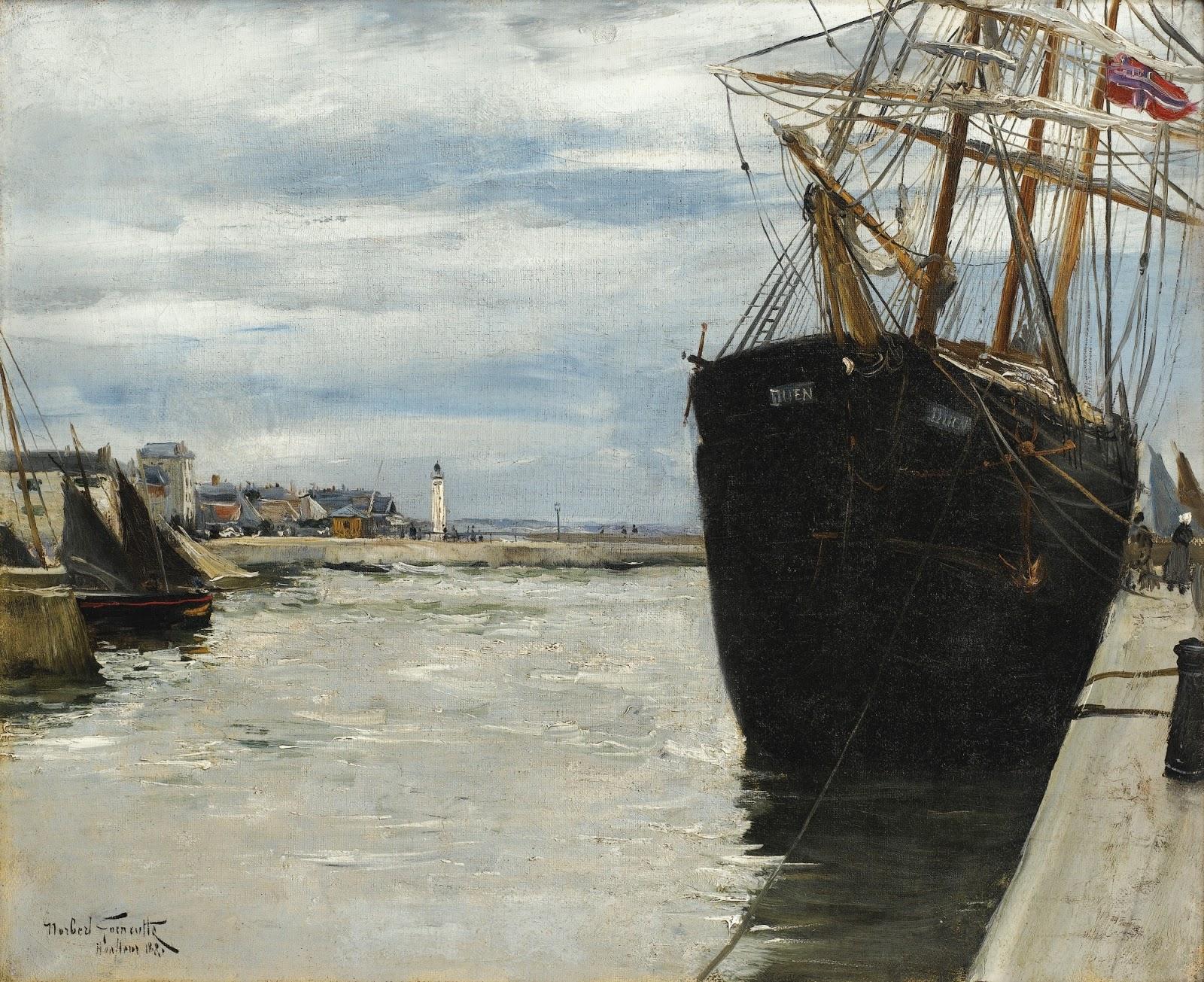 Norbert Goeneutte Le port de Honfleur