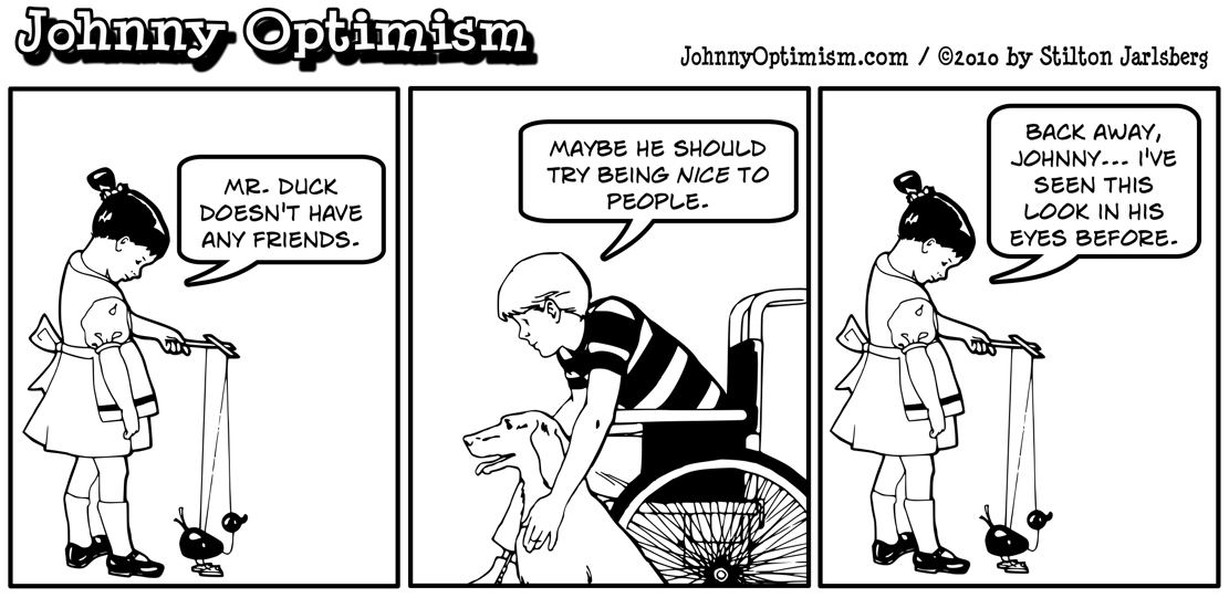 Johnny Optimism, johnnyoptimism, medical humor, mister duck, mr. duck