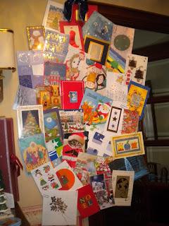 Postales, decoración navideña