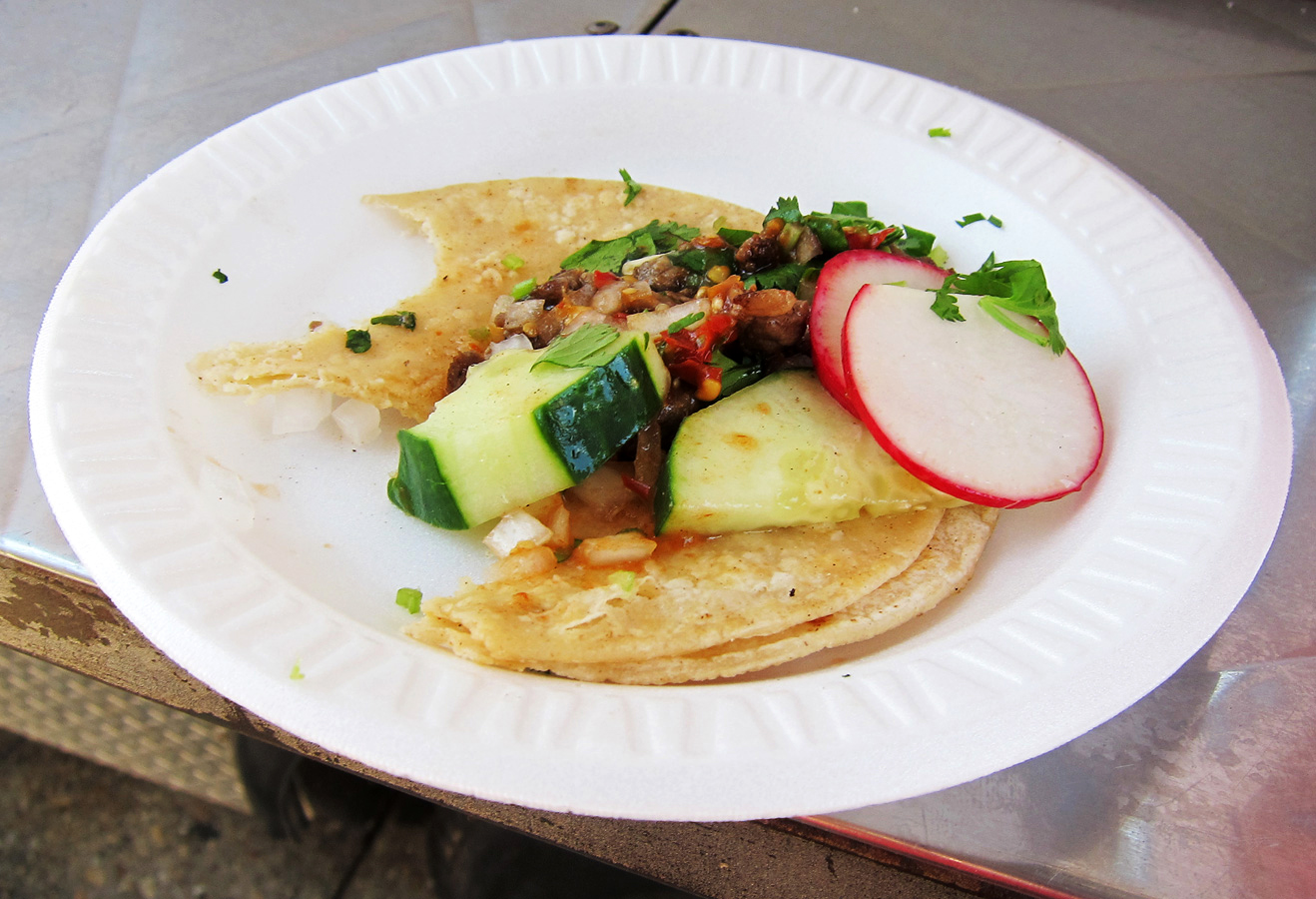 lengua beef tongue taco deliciousness tenderness each taco comes with