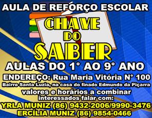 REFORÇO ESCOLAR A CHAVE DO SABER