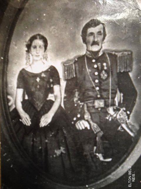 Comendador Venceslau Alves Belo e sua esposa Maria Alves de Faria Belo