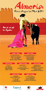 Cartel Taurino Almeria 2011